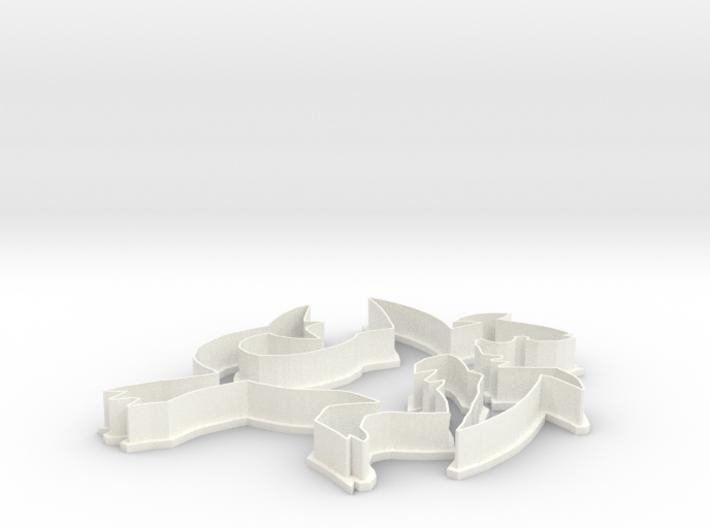 Garchomp Cookie Cutter 3d printed