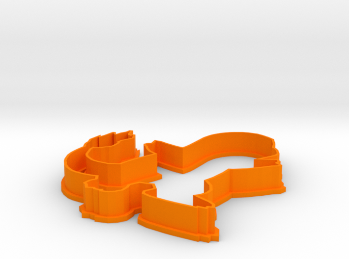 Charmander Cookie Cutter 3d printed