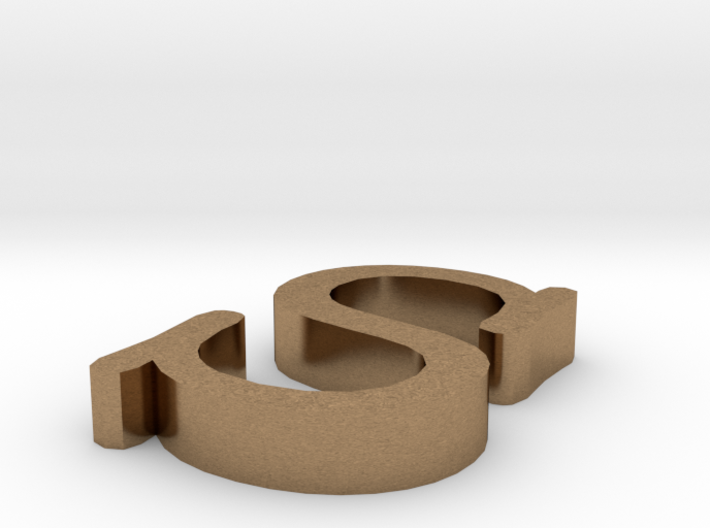 S Letter 3d printed