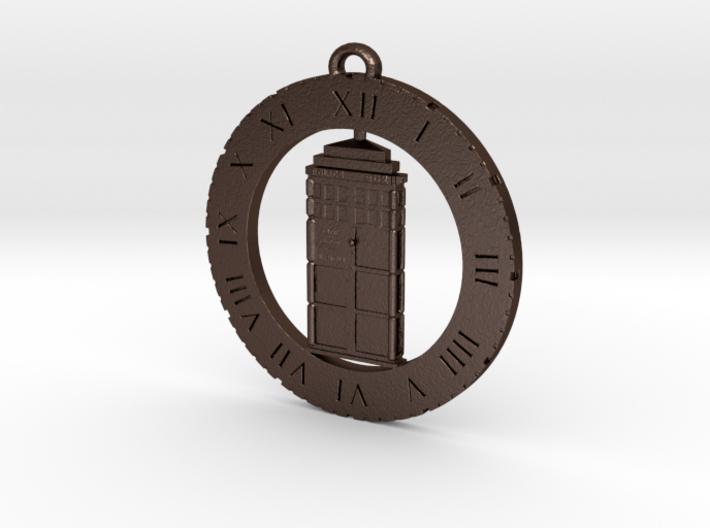 TARDIS (Flat) - Pendant 3d printed