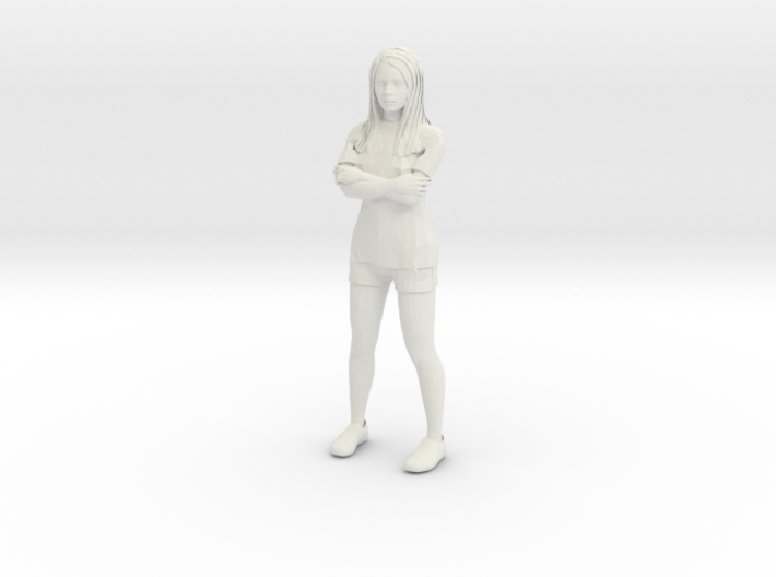 Female in shorts and tshirt 1/29 scale 3d printed