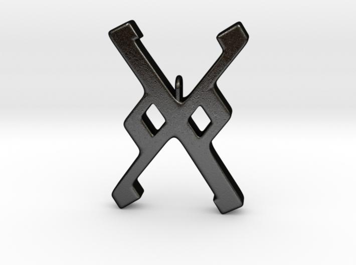 Rune Pendant - Gār 3d printed
