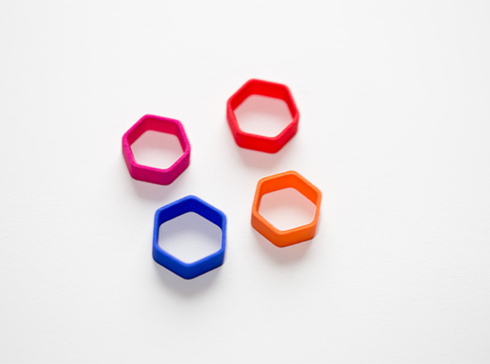 Poly6 Ring 3d printed Poly6 Ring in multiple colors