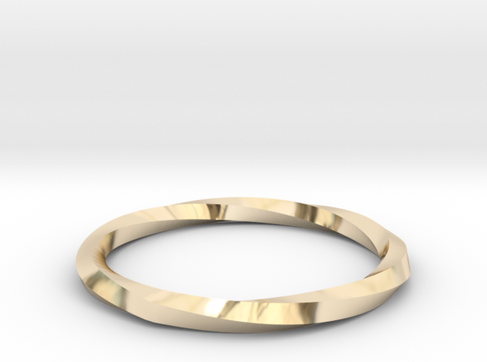 Nurbs Wedding Ring--Size 7.75 3d printed