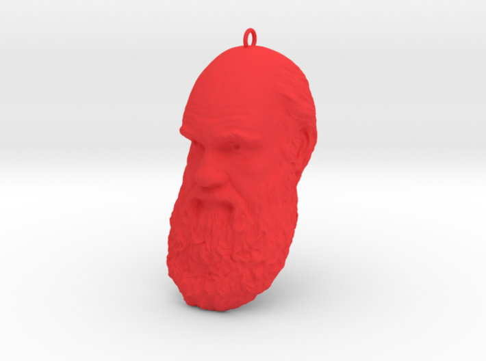 "Charles Darwin 6"" Head with Hanger, Ornament 3d printed"