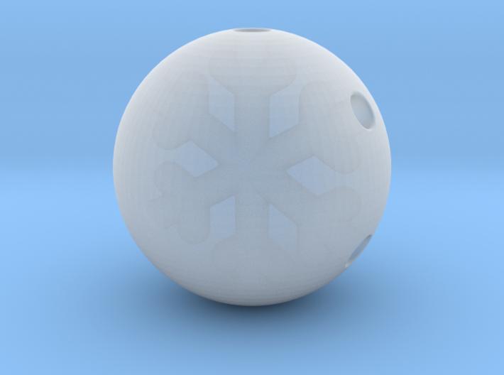 Snowflake Bead 3d printed