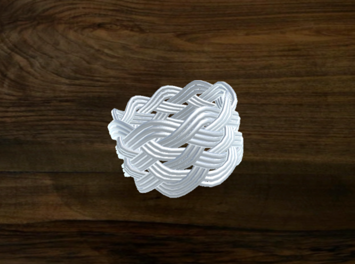 Turk's Head Knot Ring 6 Part X 9 Bight - Size 9 3d printed