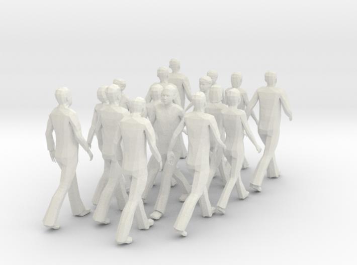 People walking (scale 1:50) 3d printed