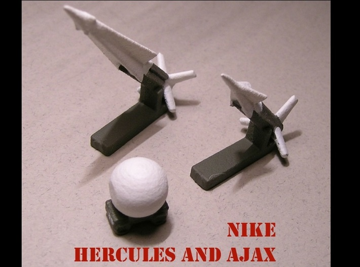 1/285 Nike Hercules / Ajax Set 3d printed Model paint and decal work by Fred Oliver. Image provided by Fred Oliver.
