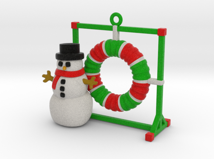 Agility Tire Christmas Ornament 3d printed