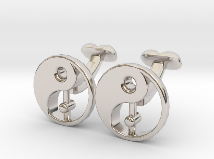 Karma Cufflinks, Part of NEW Spirit Range 3d printed