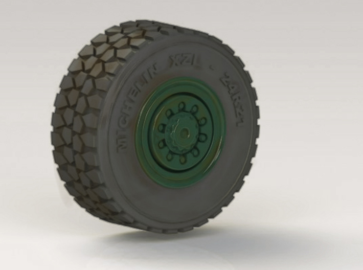 Military wheel for heavy truck 3d printed