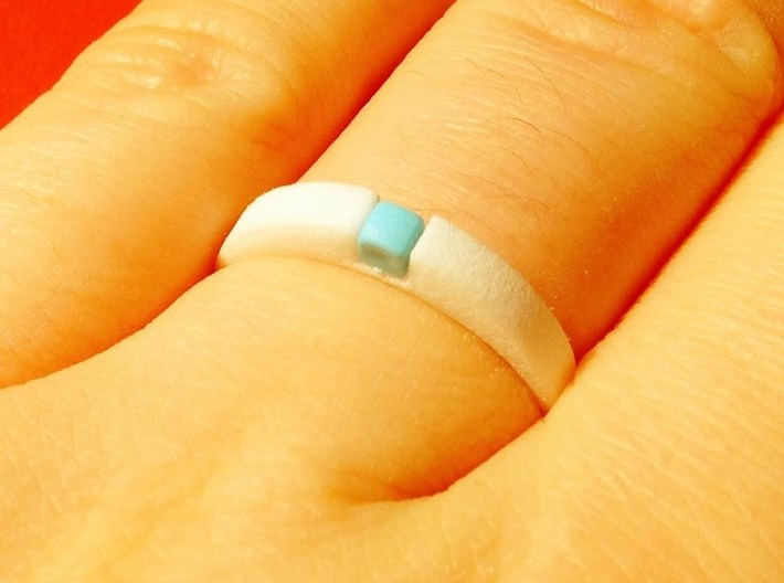 1-bit ring (US7/⌀17.3mm) 3d printed