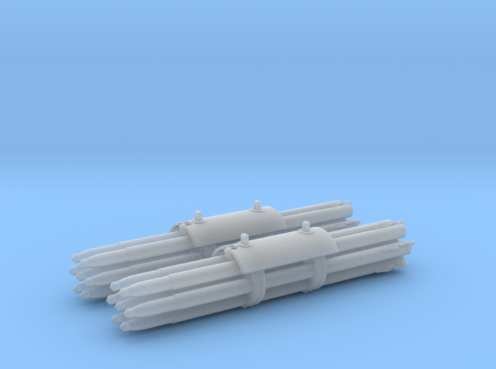 M158A1 Pair Rocket Pods 1/48 Scale (Loaded) 3d printed