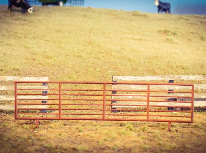 S Scale 24 ft Stand Alone Cattle Panels Set of 4 3d printed