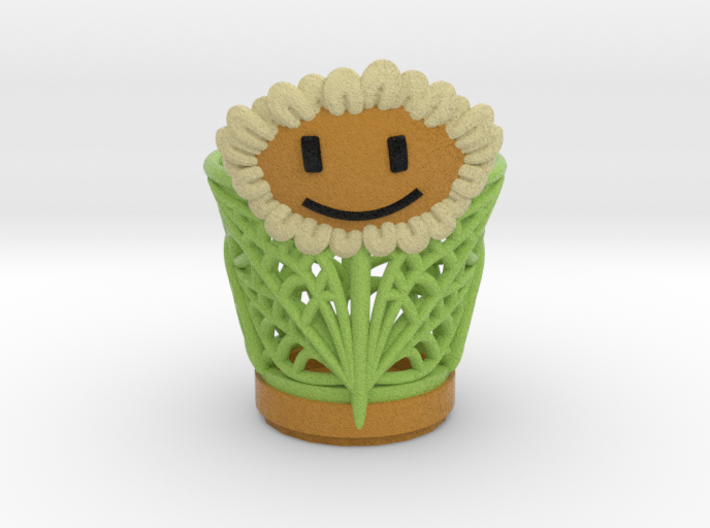 Sun Flower Vase case 3d printed