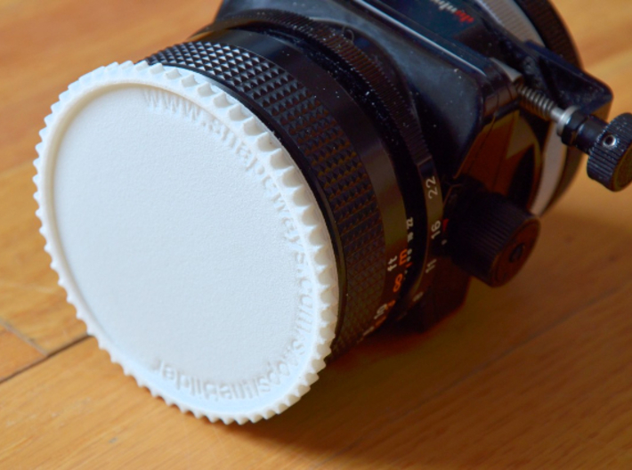Double threaded lens cap: 49 and 55 mm 3d printed