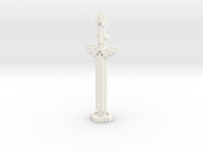 Pixel Art Sword And Stand 3d printed
