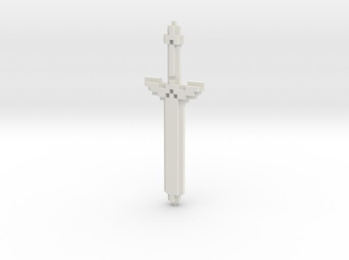 Pixel Art Sword 3d printed