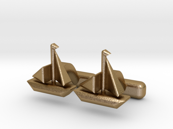 "Ship Cufflinks, Part of ""Nautical"" Collection 3d printed"