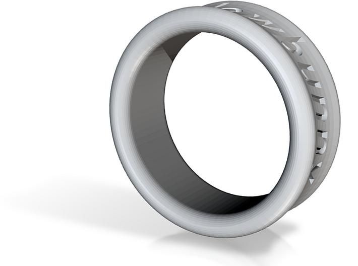 Shaddowbunny Ring 3d printed