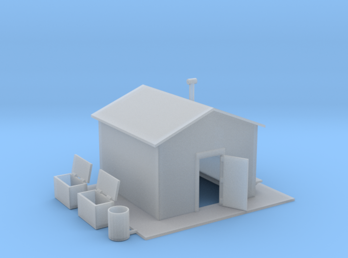Railroad Work Shed 3d printed