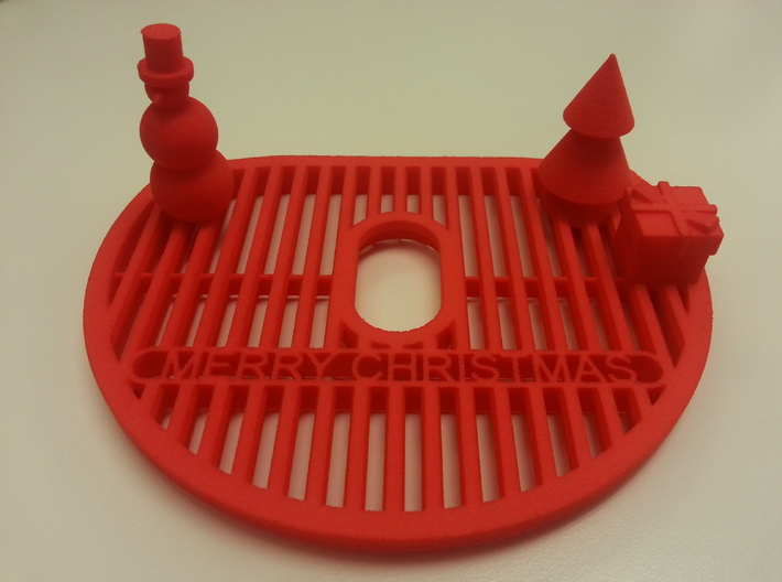 NESCAFE Dolce Gusto MiniMe Festive drip tray 3d printed Actual tray printed