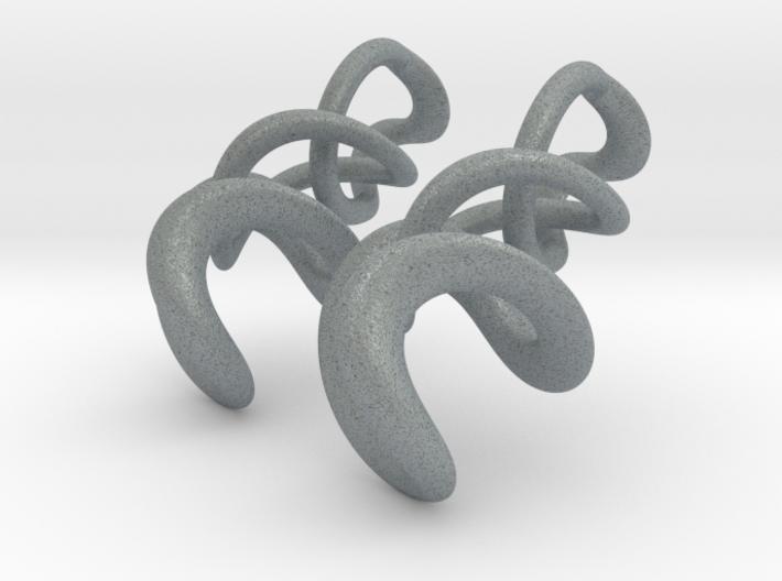 Tumbling Loops Earrings - Small 3d printed