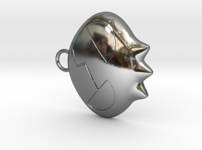 Yoko Skull Clip Dangle Earring Remix (1in) 3d printed