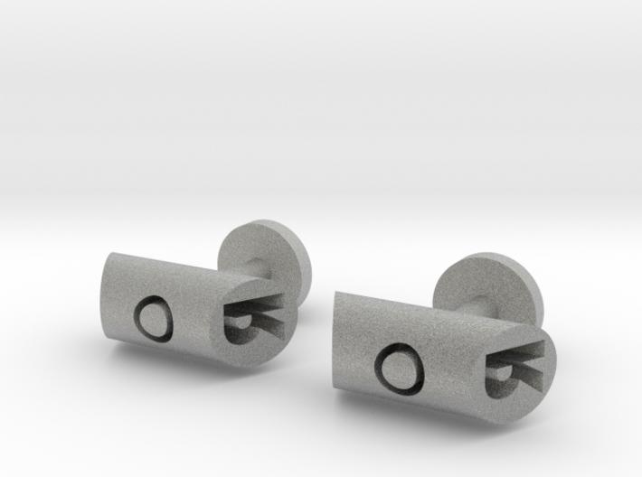 Cufflinks - Initials 2 3d printed