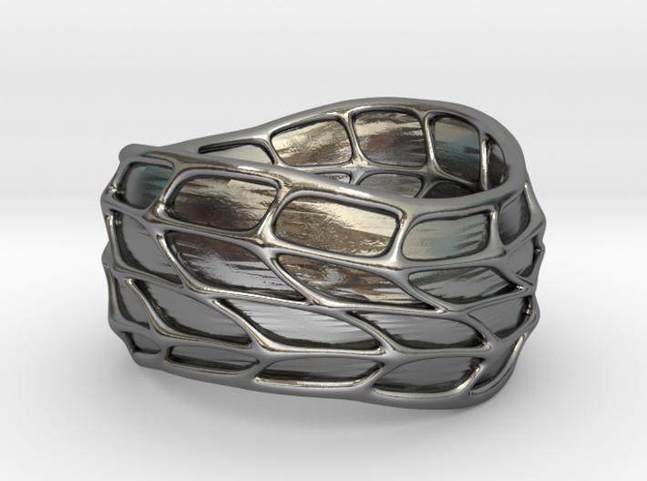 Panel Twist Ring (Sz 8) 3d printed
