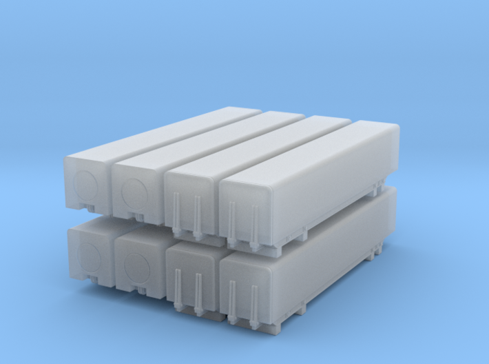 1/96 scale Naval Strike Missile containers - set 3d printed