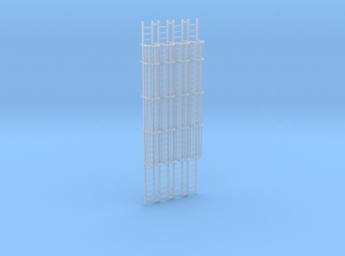 (4) 'N Scale' - 30' Caged Ladders 3d printed
