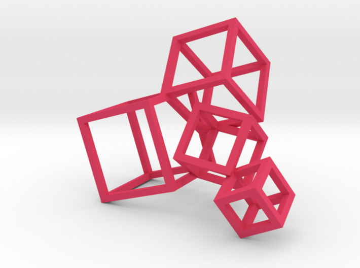 Cubed Art Sculpture 1:12 scale 3d printed