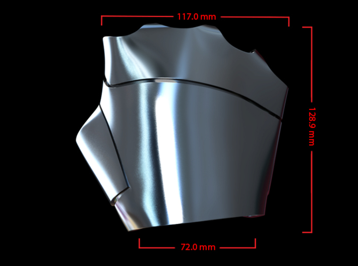 Metal Iron Man Right Palm Armor (Size Large) 3d printed Cg Render (Top Measurements)