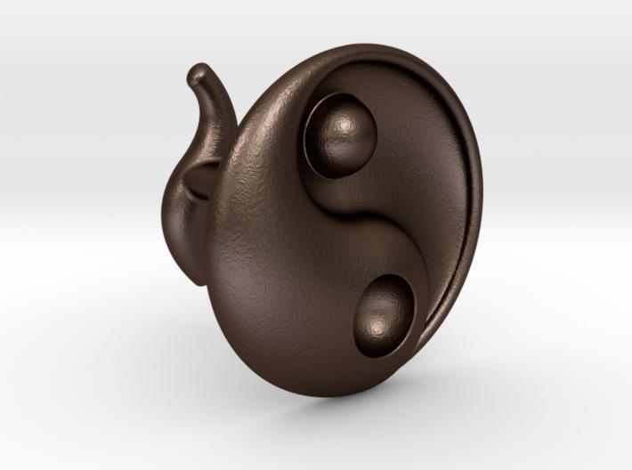 Yin Yang - 6.1 - Cufflink - Right 3d printed