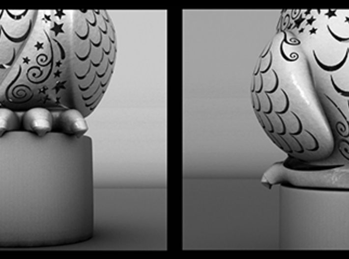 Stelliform Owl Small Size 3d printed