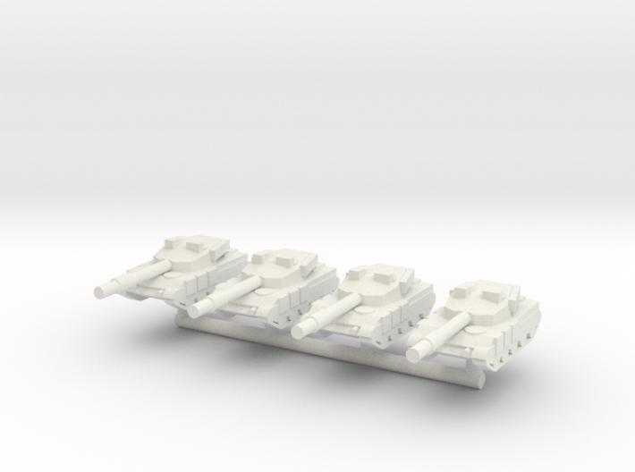 1/285 Al Zarrar Main Battle Tank (x4) 3d printed