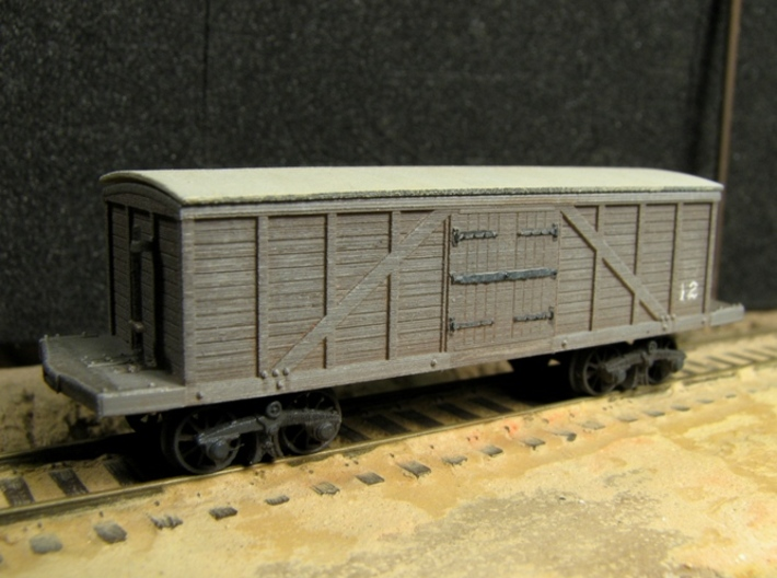 R11x2 N scale 1840 Winans boxcar, Württemberg x2 3d printed