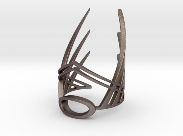 The Winged Crown (Bracelet) 3d printed