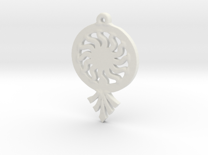 Sunrays Pendant 3d printed