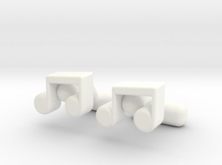 Music Note Cufflinks 3d printed