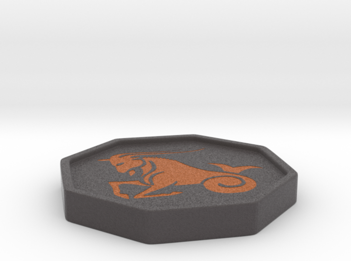 Capricorn horoscope 3d printed