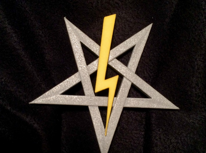 LaVey's Sigil Bolt Ornament (Part 2 of 2) 3d printed This is part two of two. Star is not included.