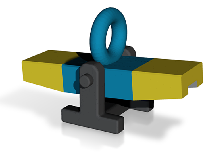 Agility Teeter Pendant (Blue & Yellow Version) 3d printed