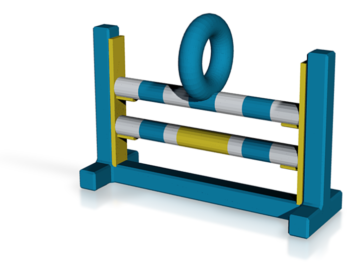 Agility Bar Jump (Blue & Yellow Version) 3d printed