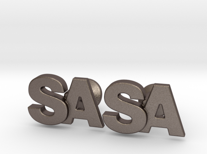 Monogram Cufflinks SA 3d printed