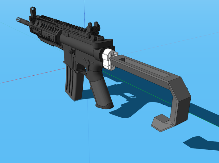 Proton XB-10 Shoulder Stock (Solid) 3d printed