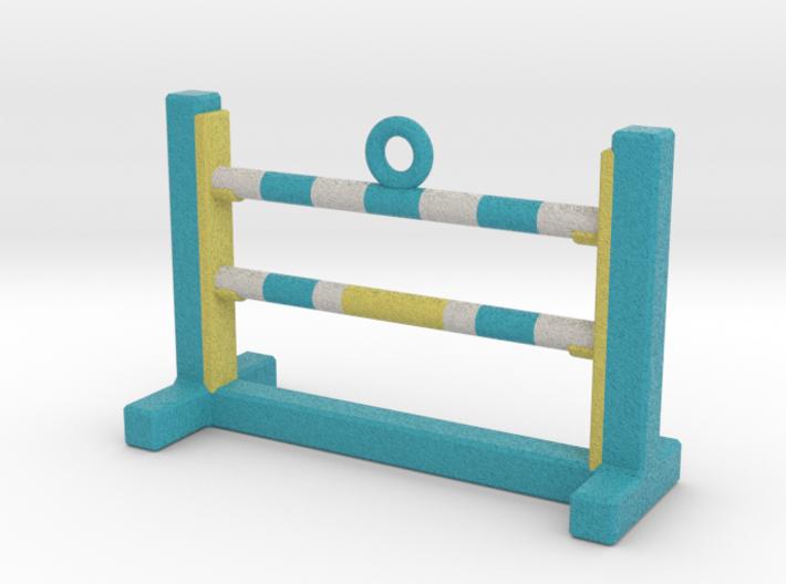 Agility Bar Jump Ornament (Blue Version) 3d printed