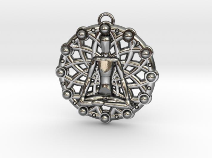 Meditation Chakra Pendant 3d printed